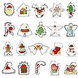 20 Piezas Navidad Cortadores de Galletas,Moldes de Galletas,Acero Inoxidable Galletas Cortador para ...