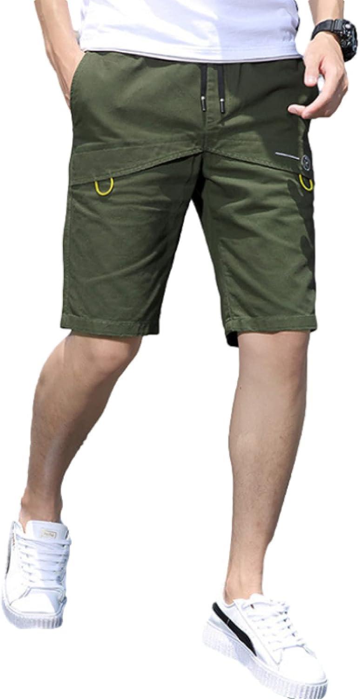 Men's Splicing Fashion Shorts Trendy Streetwear Comfortable Casual Simplicity