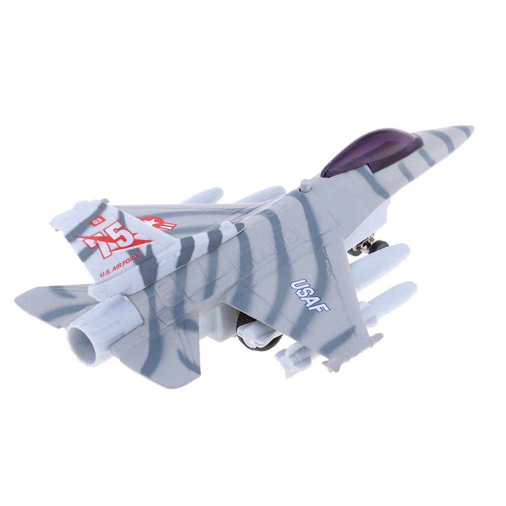 Hellery Aleación De Adorno WWII F-16 Aviones Militares Modelo De ...