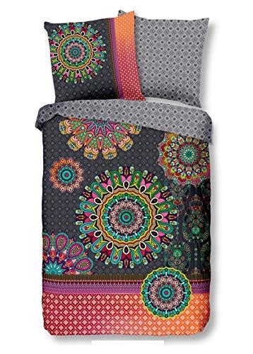 Traumschloss Izett Feinbiber Bettwäsche Garnitur aus Baumwolle, Größe:135x200 / 80x80