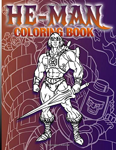 He-man Coloring Book for Adults, Paperback (100 pages)
