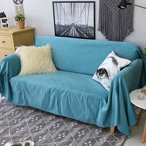 H-CAR Funda de sofá de Color sólido, Four Seasons Universal 1 Pieza Protector de Muebles Antideslizante Protector de sofá Suave para 1 2 3 Cojín de sofá Sillón-b 190x400cm (75x157inch)