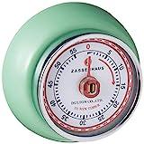 Zassenhaus 60-Minute Magnetic Steel 'Retro' Kitchen Timer, Mint Green
