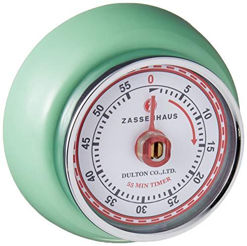 Zassenhaus M072365 Speed Küchentimer, Edelstahl, Mintfarbe