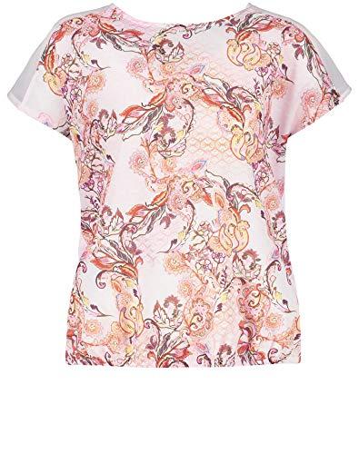 Gerry Weber Damen Shirt Mit überschnittener Schulter Leger Rosa/Tabak/Flamingo Druck 48
