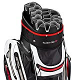 Founders Club Premium Cart Bag with 14 Way Organizer Divider Top (White)...