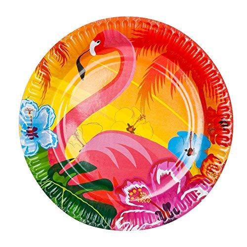 Boland- Flamingo Hibiscus Piatti, Multicolore, Standard, 52519