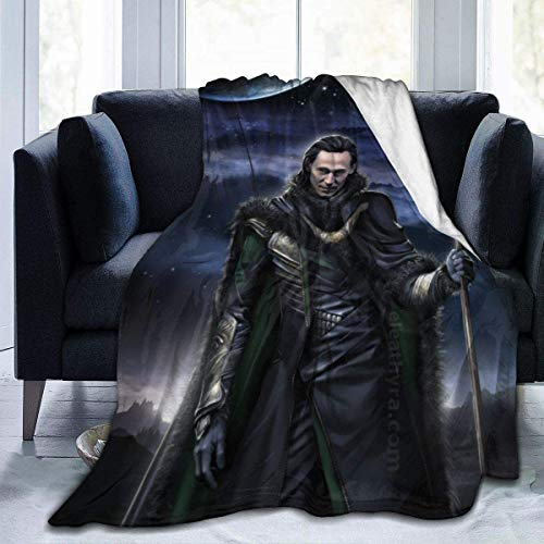 'N/A' WJOOM Lo-ki Flannel Fleece Blanket Cozy Warm Super Soft Fluffy Luxury Blanket-Lightweight All Season for Bed/Couch/Sofa/Office/Camping Black 80'' x60