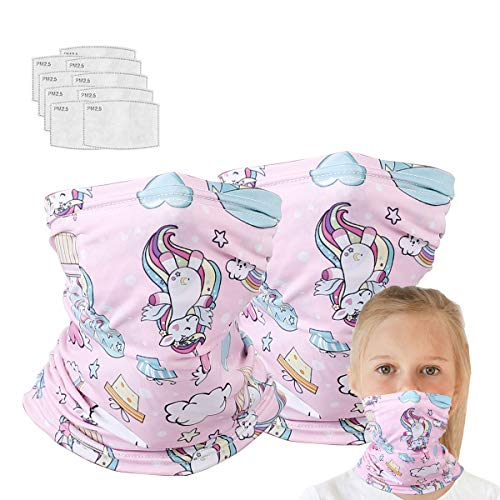 Neck Gaiter With Filters For Girl, Magical Multi Funtion, Bandana, Half Face Protective Balaclava Masks, Kids Headwear, Toddler Headbands, Infinity Scarf