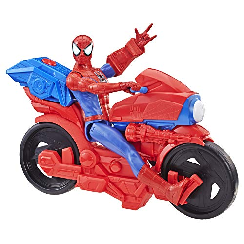 Spider-Man - Spider-Man Titan Power con moto (Action figure 30 cm elettronico con moto)