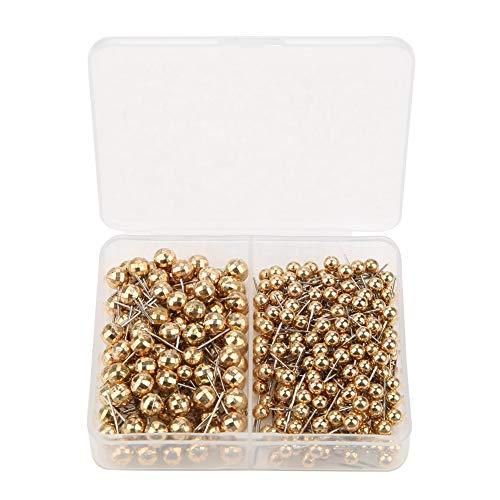 300 pezzi di spille da cucito rotonde con testa di perla, spille dritte per marcare strumento pratico per sartoria, gioielli e decorazioni floreali (oro)