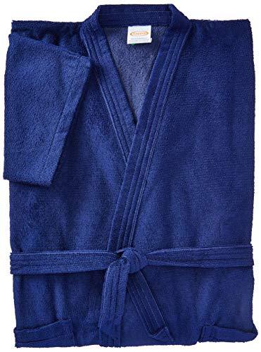 Roupão Aveludado Lepper Santorini Azul Marinho Médio Pacote de 1 Algodão Tradicional