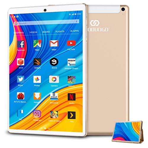 Tablet 10.1 Pollici con Wifi Offerte 4G Dual SIM,RAM da 4GB+64GB Tablet PC Offerte Android 9.0 Quad-Core con 8MP Fotocamera DUODUOGO Tablet Offerta Del Giorno con Penne/Bluetooth/GPS K6