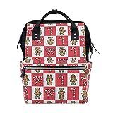 Weihnachtsmuster Lebkuchen-Kekse Süßigkeiten Windeltasche Mumien-Tasche, große Kapazität, Multifunktions-Rucksack für Reisen
