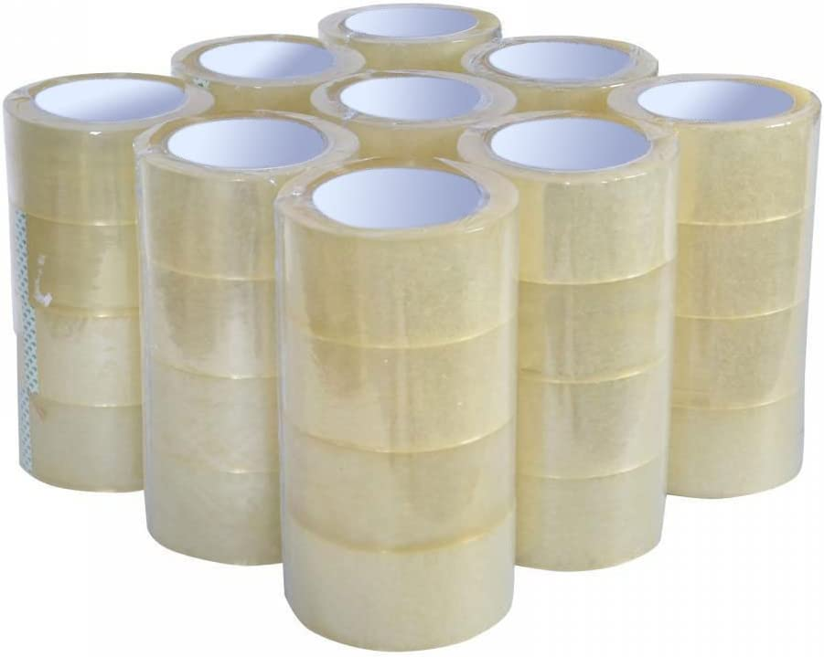 """Choose the Quantity1-144 RollsClear Packing Tape 2/""""x110 yards 330ft 2 Mil"""