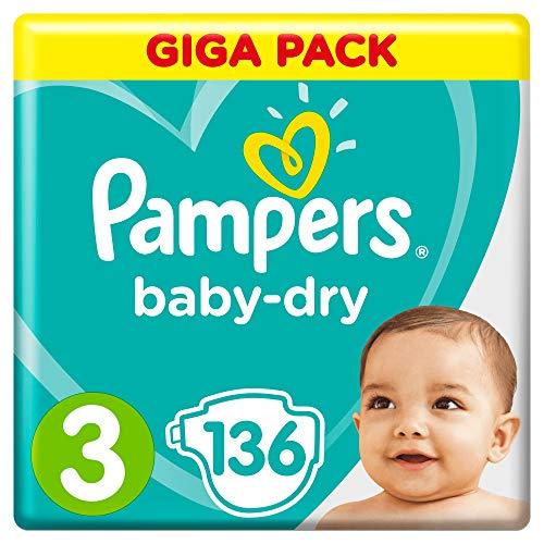 Pampers Baby-Dry Größe3, 136Windeln