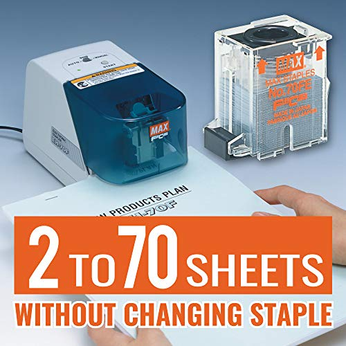 Max NO70FE Staple Cartridge for EH-70F Flat-Clinch Electric Stapler (Box of 5000) Photo #6