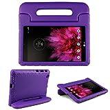 Schutzhülle für LG G Pad X 8.0 (20,3 cm), einfacher Tragegriff, Ständer, EVA-Schaum, stoßfest, Schutzhülle für LG G Pad X 20,3 cm (8 Zoll) V-520/V-521 Tablet, Violett
