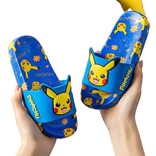 Zapatillas Niños Sandalias Niñas Niñas Slide Sandalias, Verano Dibujos Animados Anime Lindo Flip Flaut Beach Shoes Agua Al Aire Libre Inicio Inicio Niños Color : Blue, Size : EU27(17cm)