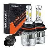 Infitary LED Headlight Bulbs 9007 HB5 Conversion Kits High/Low Beam Auto Headlamp Dual Beam Car Headlight 72W 6500K 8000LM Extremely Super Bright COB Chips- 1 Pair