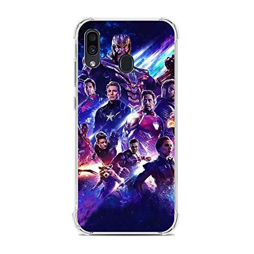 TeeTan Clear Coque Matte Slim Soft Liquid TPU Durable Case Cover For Samsung Galaxy A30/A20/M10S-Hero-Avengers 5
