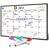 SmartPanda magnetisches Whiteboard und Kühlschrank-Kalender - ideal, um organisiert zu sein - Ideal für Monatsplanungen, Veranstaltungseinträge und Ferienpläne - Schreibtafel - Monatlich - auf Deutsch