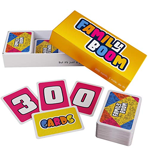ZENAGAME Family Boom - Board Game for the Whole Family - 300 Unique Cards, Fun Games for Families, Gift for all Ages