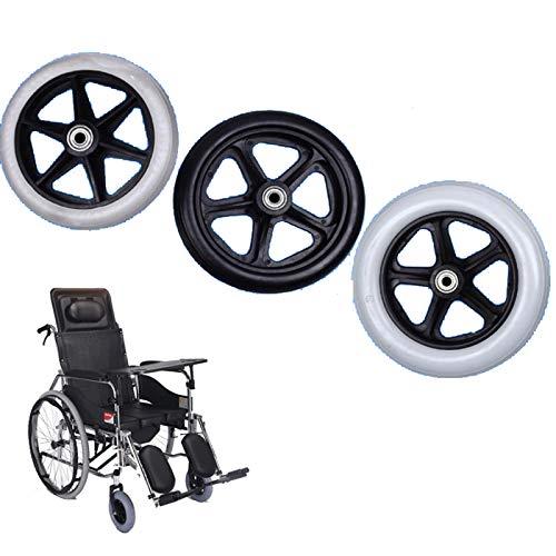 HRD Manuellen Rollstühle Räder Ersatz,PVC Vollreifen,15 cm 17 cm 20 cm Durchmesser,für Gehhilfen,Bollerwagen,Schubkarrenrad,1 Paar(2 STK)
