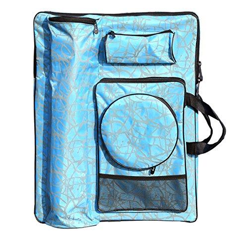 Artoop Waterproof Portfolio Backpack Art Bag for Artwork Blue Color Size 26.3''x18.9''