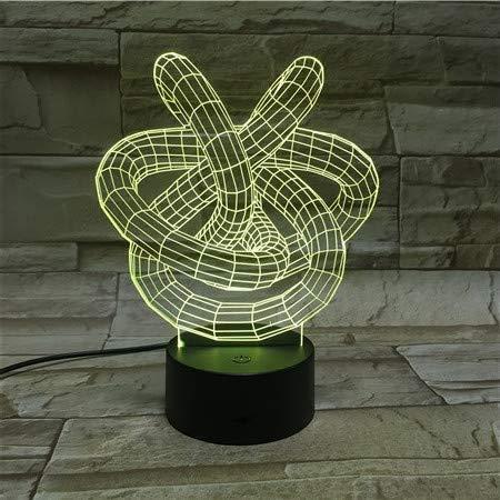3D Kristallform Nachtlicht Illusionslampe, 7 Farben Nachttischlampe Weihnachts- und Geburtstagsgeschenke für Kinder LED Nachtlicht mit Fernbedienung