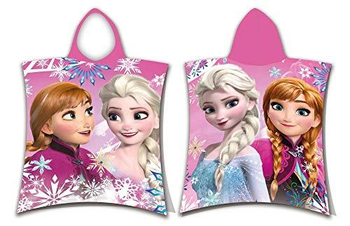 Frozen Poncho Handtuch Sisters Anna & ELSA Die Eiskönigin - völlig unverfroren Badetuch Strandtuch Disney Beach Towel Snowflakes