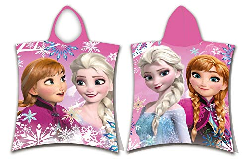Toalla Poncho de Frozen Sisters Anna & Elsa La Reina del Hielo – Toalla de playa Disney Beach Towel Snowflakes