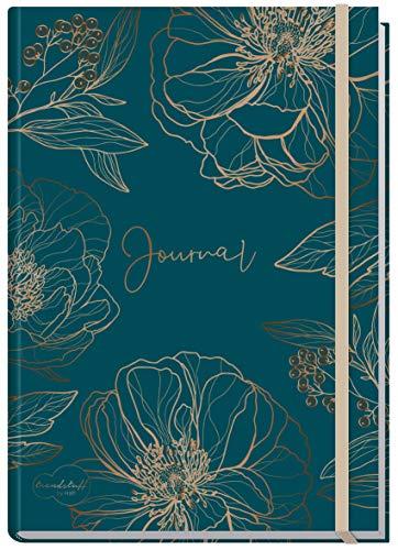 Bullet Journal dotted A5 mit Gummiband [Goldblüte] 156 Seiten | Notizbuch gepunktet, Tagebuch von Trendstuff by Häfft | nachhaltig & klimaneutral