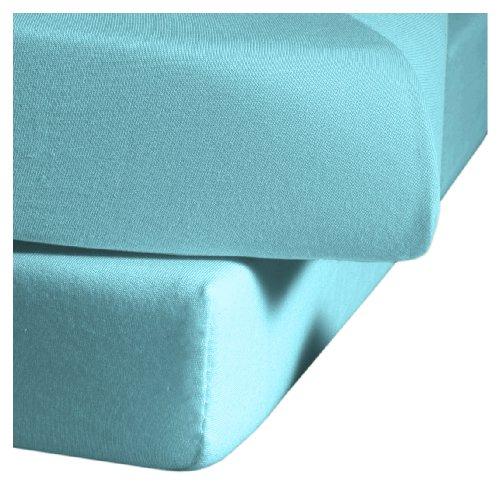 Fleuresse Colours 9100 6058 - Sábana Bajera Ajustable (160x200cm), Color Azul