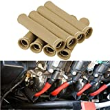 CarBole 8PCS Car 1200 Degree Spark Plug Wire Boots Heat Shield Protector Sleeve Cover fit for SBC BBC 350 454 Titanium