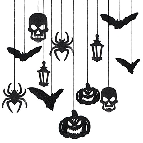JOYIN Halloween Party Decorazione Casa Kit Haunted House Chandelier Addobbi Set di Decorazioni da Appendere al Soffitto e Applique da Parete