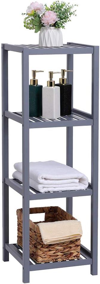Angelbee 100% Bamboo Bathroom Topics on TV Towe Shelf Very popular Standing Free