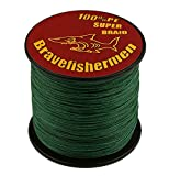 Bravefishermen Super Strong PE Braided Fishing Line Dark Green