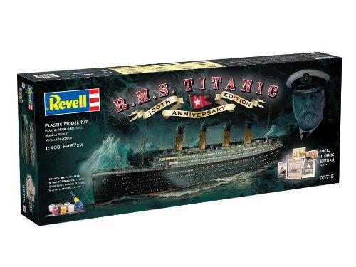 """Revell Modellbausatz Schiff 1:400 – Geschenkset """"100 Jahre TITANIC"""" im Maßstab 1:400, Level 5, originalgetreue Nachbildung mit vielen Details, Kreuzfahrtschiff, 05715 - 13"""