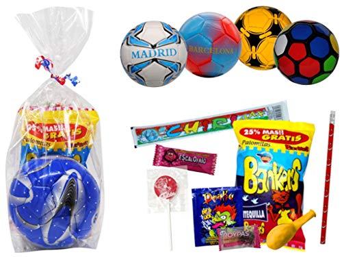 Lote de 4 Balones Balonmano Infantiles con Golosinas Surtidas (a Elegir). Dulces....