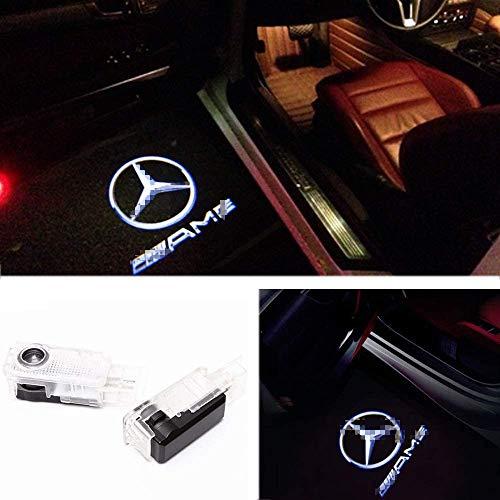 ZNYSTAR Car Lampe der lampe der Tür Ghost Shadow Willkommen Licht Einstiegsbeleuchtung Türbeleuchtung 2PCS (Benz W203-AMG)