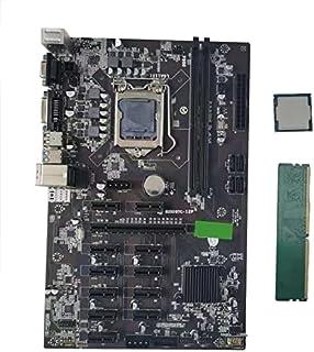 Integrerat grafikkort Moderkort B250b 12p-BTC Bärbart moderkort G3900 CPU 4G DDR4 Minne Dubbelkanal