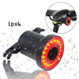 sanstar Xlite100 Smart Bicycle Tail Light,USB Rechargeable Bright Bike Sensing Bike Rear Lights Sense Flashing RED Back LED Accessories Cycling Safety Taillight, Waterproof Bike Brake Tail Light