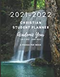 2021-2022 Christian Student Planner - Academic Year (July 2021 - June 2022) - 2 Pages Per Week: Includes Daily Bible Reading Plan | Waterfall Theme | 160 8.5 x 11 Pages | A Great Gift for Students |