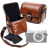 DURAGADGET Bolsa Profesional marrón con Compartimentos para Cámara Olympus Pen E-PL9 V205092NE000, Panasonic Lumix G DC-GX800KECS, Panasonic Lumix dc-gx9keg-s (DC-GX9KEG-S) Tamaño Mediano.