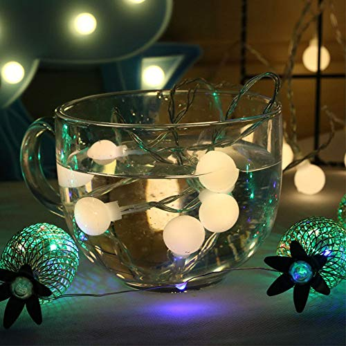 Fairy Lights LEDs Christmas Lights String Balls, Used for Festive Christmas Home Decoration Lights String Battery 6m60 LEDs
