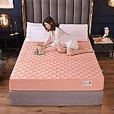 Sábanas ajustablesperfecto para el colchón, sensación suave, ,Sábanas Ajustables Acolchadas De Algodón, Almohadillas De...