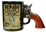 The American Outlaw Series 15oz Gun Mug Set Featuring Jesse James