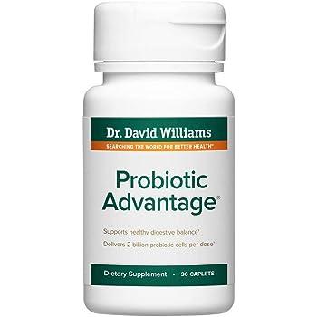 Dr. David Williams' Probiotic Advantage Supplement with 7 Unique Strains and Patented Technology to Deliver Probiotics Alive (30 Caplets)