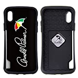 アーノルドパーマー ケース カバー [カラー:2.ロゴ(BK)] iPhonex iPhoneX arnold parmer 電磁波防止シート付 人気 メンズ レディース シンプル